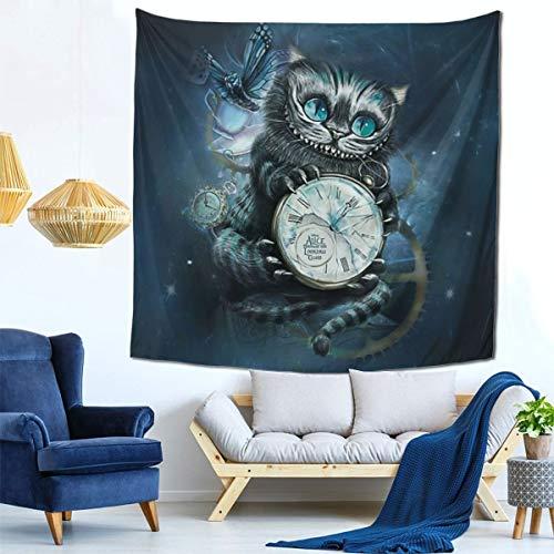 SJPillowcover Alice im Wunderland Quadratischer dekorativer Wandteppich 150 x 150 cm Wohnzimmer Schlafzimmer dekorative Decke