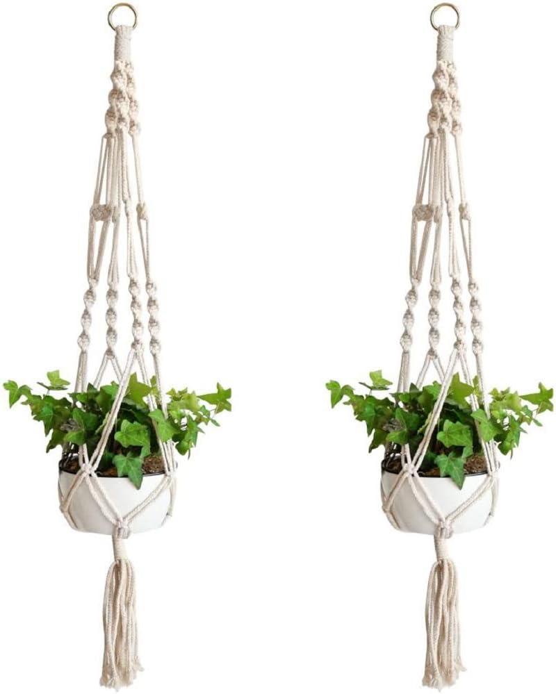 Macrame Plant High quality trend rank new Hangers 2 Packs Planter Flower Hanging Pot