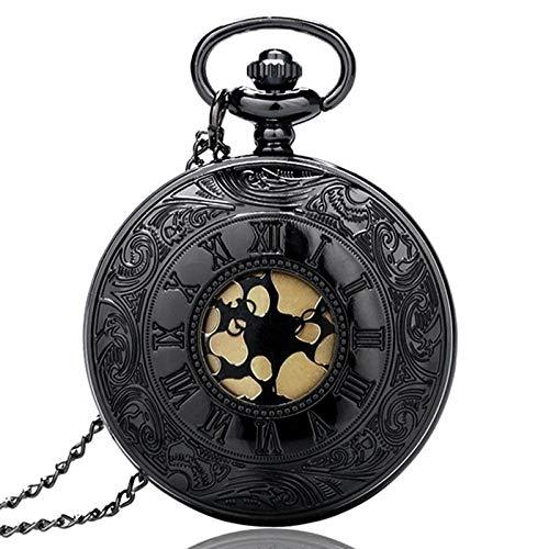 LEYUANA Reloj de Bolsillo Antiguo Vintage de 80 cm de Cadena