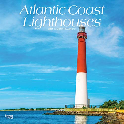 Atlantic Coast Lighthouses 2021 12 x 12 Inch Monthly Square Wall Calendar, USA United States of America Scenic Nature Ocean Sea East