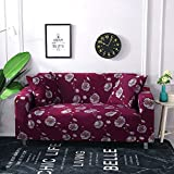 WXQY Sala de Estar geométrica Todo Incluido Funda de sofá Moderna sección elástica Funda de sofá de Esquina Funda de sofá A6 3 plazas