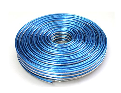 Absolute USA SWT16B100 Professional Premium Speaker Wire 16 Ga 100ft - Clear Blue/White