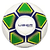 Uber Soccer Regulation Size and Weight Indoor Futsal Soccer Ball (Brazillian Glossy, 3)