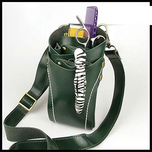 シザーバッグ シザーケース ベルト ポーチ ショルダーバッグ 斜めがけ ボディバッグ ハサミ5丁収納 美容師バッグ、花屋さんバック