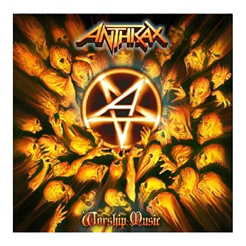 wzgsffs Anthrax Music Rapper Album Cover Hot Poster And Prints Wall Art Print On Canvas for Living Room Home Bedroom-20X20 Pollicix1 Frameless