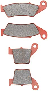 MEXITAL One Set Ceramic Motorbike Brake Pads Front and Rear for Honda CR 125 R / CR 250 R (02-07) / CRF 250 R/X (04-17) / CRF 450 R/X (02-17)