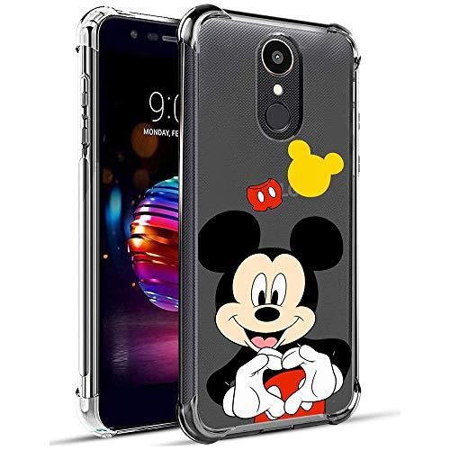 Nico Funda LG K10 2018/LG K10 Alpha/LG K30/LG Premier Pro LTE, Lindo Gracioso Dibujos Animados Cáscara Moda, Silicona Gel TPU Transparente Bumper Case Caso para Teléfono LG K10 2018 (Heart Mouse)