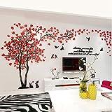 Alicemall 3D Adesivi Murali Wall Sticker Forma Albero Adesivi da Parete in Acrilico Foresta con Multicolore Foglie (Stile 8)