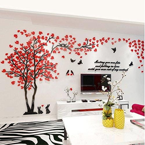 Asvert Aufkleber 3D Wandaufkleber Wand Dekoration TV Sofa Hintergrund Deko Stereo Wandtatoo - Muster 1
