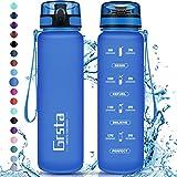 GRSTA - Bleu Saphir Mat - Gourde d'eau sport en co-polyester Tritan - 1 litre