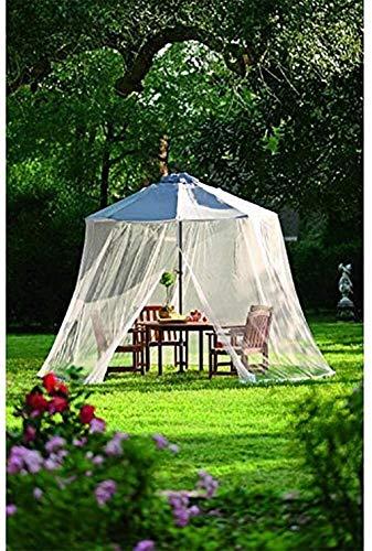 Gazebo Mosquito Bug Net, Gartenschirm im Freien Ihr Sonnenschirm in ein Pavillon Moskitonetz für Sonnenschirm, Outdoor-Sonnenschirm Tischschirm Patio Regenschirm Abdeckung Moskitonetz Bildschirm fo