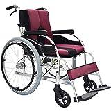 OH Leichte Rollstühle für Erwachsene Selbstfahrende, zusammenklappbare Leichtrollstühle Transport Ergonomischer Handlauf Handbremsen Fußstützen - Wiegt nur 11 kg, Blau gj/Rot