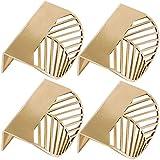 Lankater 4pcs Figura di Foglio di Ottone Oro Gabinetto Tira Mobili Maniglie Maniglia Portello della Cucina di Rame Cassetto Manopole Pull