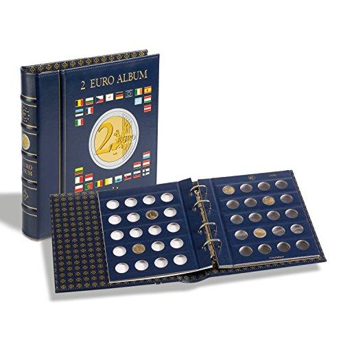 VISTA Coin Album for 2-Euro coins (4 neutral sheets), incl. slipcase, blue
