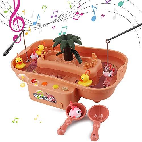 HS1 Juguetes de Baño para Bebés, Juego de Juguetes para Ducha, Juguete de Pesca para Niñas Niños,Rosado