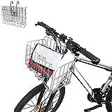 Enkrio - Cesta para bicicleta (plegable, frontal, trasera, de alambre, de malla, plegable, para colgar en la parte posterior, para estudiantes, montañas, camping, equitación