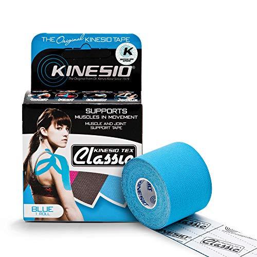 Kinesio volwassenen tape Classic enkele rol, blauw, 5 x 400 cm, KIN/008