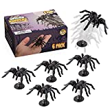 Wrencho Spider Popperz Prank Box Gift | Set of 6 Gag Gifts, Fake Jumping Spiders, Surprise Toy Kit, Funny Halloween Toys for Kids & Adults | Realistic-Looking, Fun Scary Joke, Scare Trick Pranks