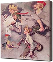Norman Rockwell - The Land Of Enchantment Framed Canvas Art Print Reproduction