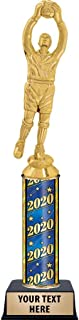 Crown Awards Goalie Soccer Male Trophies, Personalized 2020 Goalie Soccer Male Trophy, Custom Engraving Included Prime