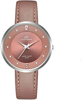 Women's Watch by Louis Martin Round shape of leather