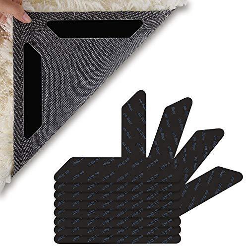 Firtink 32 Stück Teppichgreifer Antirutschmatte Waschbar Antirutschmatte für Teppich Wiede Rverwendbar Teppichunterlage
