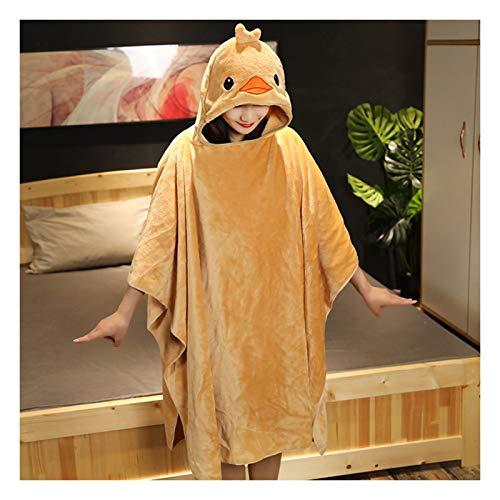 DALLL Manta con mangas de Halloween capa y capucha de algodón para adultos y niños, pato