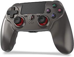 「2021 FPS改良」JOYSKY PS4 コントローラー ワイヤレス 最新バージョン Bluetooth リンク遅延なし 600mAh ジャイロセンサー機能 イヤホンジャック ゲームパット 搭載 高耐久ボタン 二重振動 日本語取扱説明書 P...