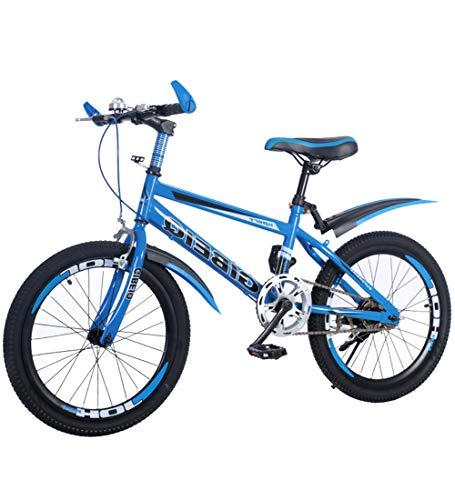Kids' Mountain Bike BLUEK, 18/20/22' inch Steel Frame, Single Speed Front And Rear V-Brakes 1.95' Wide MTB Tread,20'