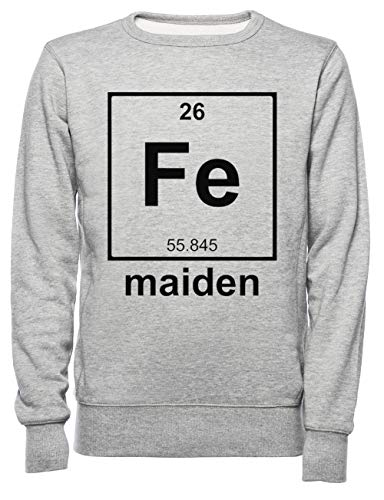 Rundi Iron Maiden Uomo Donna Unisex Felpa Maglione Pullover Grigio Dimensioni M - Women's Men's Unisex Sweatshirt Jumper Grey