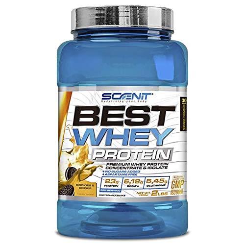 Best Whey Protein - 100% proteína de suero de leche, proteína en polvo con aminoácidos para el desarrollo muscular - 908 g (Cookies and cream)