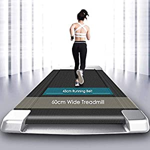 MEIHG Under Desk Treadmill 2 in 1 Walking Machine Portable Space Saving Fitness Motorized Folding Treadmill Electric for Home Office Workout Indoor Exercise Machine (US Stock)
