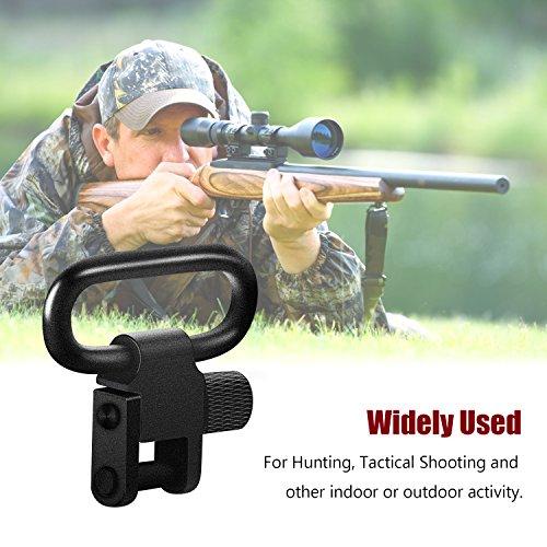 Braudel Quick Detach Rifle Short Gun Sling Swivels, 1.25 Inch and 1 Inch Loop Tri-Lock Swivels for Hunting