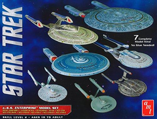 Round2 AMT954/06 1/2500 Star Trek USS Enterprise Box Plastikmodellbausatz, Modelleisenbahnzubehör, Hobby, Modellbau, Mehrfarbig