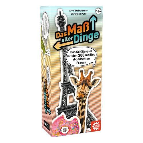 Game Factory 646220 Das Maß Aller Dinge, Schätzspiel, Wissensspiel, Gesellschaftsspiel ab 14 Jahren, Mehrfarbig