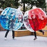 L&U Bubble Soccer Inflatable Ball Tope Human Knocker Zorb Ball para Adulto y niño, 2 pzas, Azul + Rojo,1m