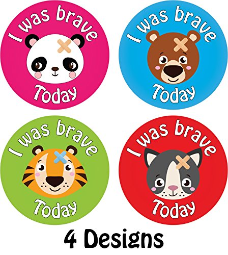 144 x 'I Was Brave' Bravery Reward Stickers Doctors Nurses Hospitals Schools