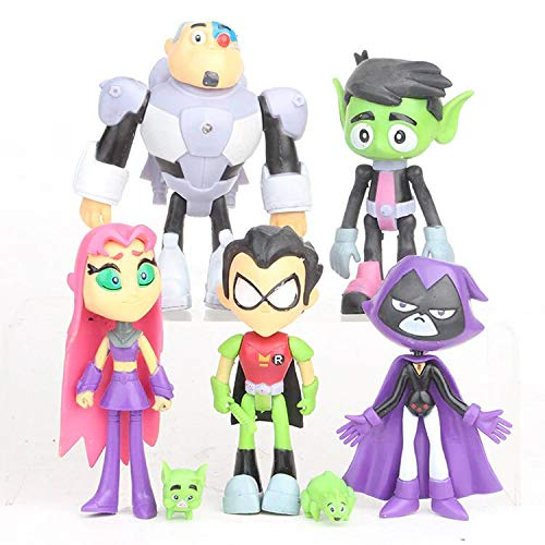 Lalosliv 7 Pack 4' Tееn Titans Go Figures Set Cake Toppers Toys Playset