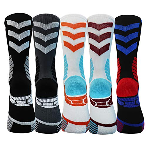 Sport Socks Cushion Basketball Crew Athletic Socks Mid-Calf Compression Socks Men Woman youth