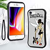 DISNEY COLLECTION Case for iPhone 6 Plus, iPhone 6S Plus, Stylish Colorful Soft TPU Anti-Scratch Protective Cover for Men Lady Girls Tinker Bell Coloring Page Soft TPU