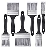 Gaosaili 6pcs Paint Brush Set, Decorating Brushes for Furniture, Wall Painting, with PP Handles and No Loss of Bristle Suitable for All Paints