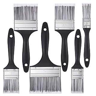 scheda xinzistar 6 pezzi set pennelli pittura in legno professionale, pennelli piatti pennelli da pittura olio set di pennello per acrilico per pittura acrilica, pittura muri