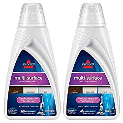 For use with the Bissell Crosswave & Spinwave cleaners. This multi-surface floor cleaning formula is great for cleaning sealed wood, tile flooring as well as area rugs. This cleaner has an appealing Spring breeze scent. 2 x 1 Litre bottles with re-se...