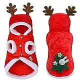 Ropa para mascotas de Navidad, traje de perro, ciervos de Navidad para accesorios para gatos (XL) diseñado con tema de Navidad
