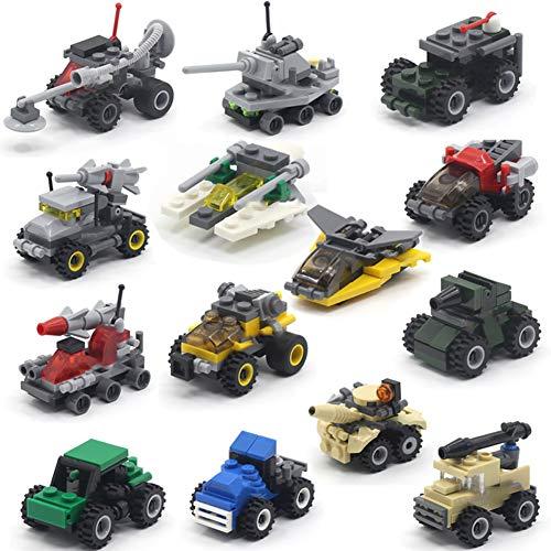 Kinder 14 in 1 Kinderwagen Chariot Kit - Puzzle Assembling Zauber einfügen Junge Spielzeug Panzerwagen Bausteine - Geschenke für Kinder