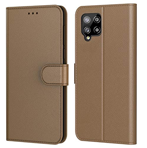 HL Coque pour Samsung Galaxy A42 5G, Pochette Protection Etui Housse Premium en Cuir PU,Fermeture Magnétique,Plusieurs Couleurs Disponibles pour (Samsung A42 5G, Book Marron)