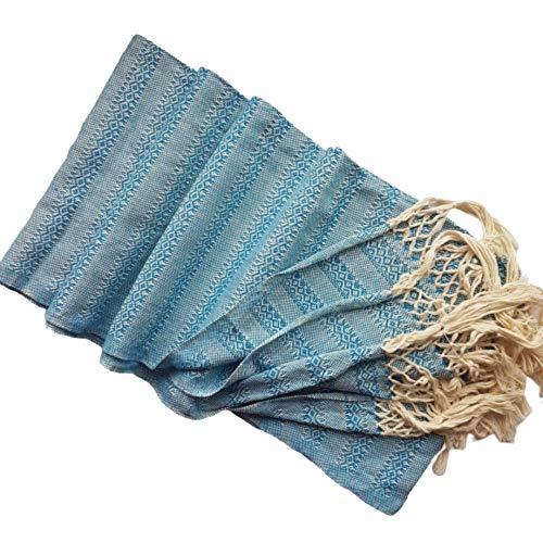 Châle rebozo mexicain, idéal pour la naissance naturelle, massage doula, 300 cm turquoise