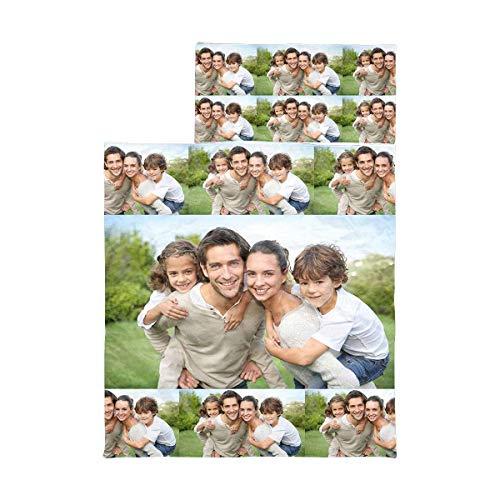 LEINTEREST Custom Photo Kids Sleeping Bag Boys Girls with Pillow Case Personalized Baby Toddler Nap Mat