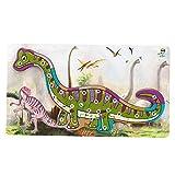 YOUTHINK Rompecabezas de Dinosaurio de Madera Juguete Rompecabezas de Números del Alfabeto Juguete Educativo para Niños Juguete Preescolar de Educación y Aprendizaje Animal Puzzle Toy(3)