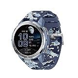 HONOR GS Pro Smartwatch Reloj Inteligente Deportivo 5ATM Resistente al Agua GPS Smart Watch Pulsera de Actividad 1.39' con Monitor de Pulsómetro Compatible con iOS y Android (Azul)